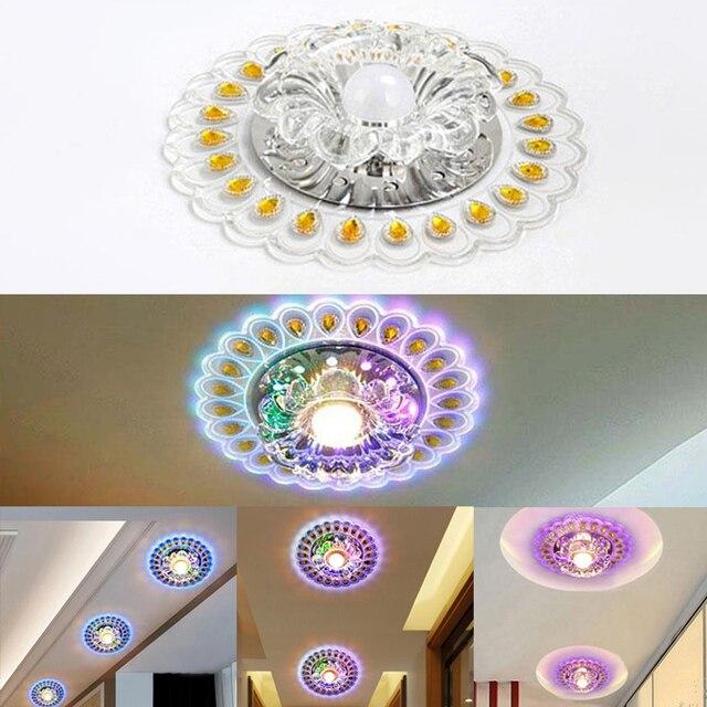 Lights Ceiling Lamp Circular  Lamp Decor Lamp Pendant Lamp Chandelier Peacock Crystal Light LED Modern for Living Room Aisle