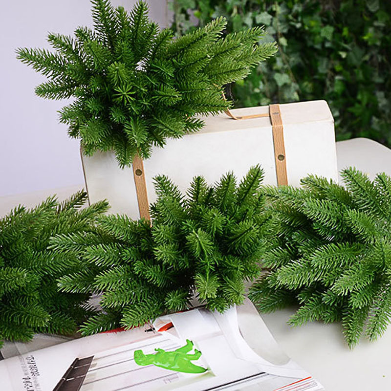 1PC Artificial Spruce Branches Green Pine Needle For Wedding Christmas Decoration DIY Craft Gift Xmas Tree Decor Fake Plant