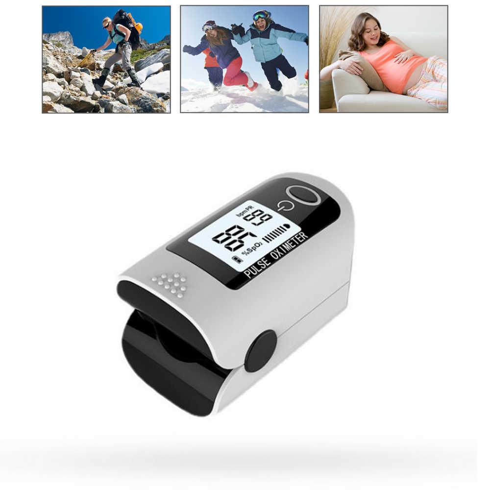 Портативный Пульсоксиметр Пальчиковый цифровой монитор насыщения крови кислородом для уровня SpO2 и пульса бытовые здоровые инструменты