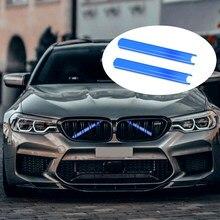 Kühlergrill Trim Streifen Für BMW F10 F11 F02 F30 F32 3 4 5 7 Serie Sport Stil Streifen Abdeckung rahmen Auto Dekorationen Aufkleber 2 Pcs