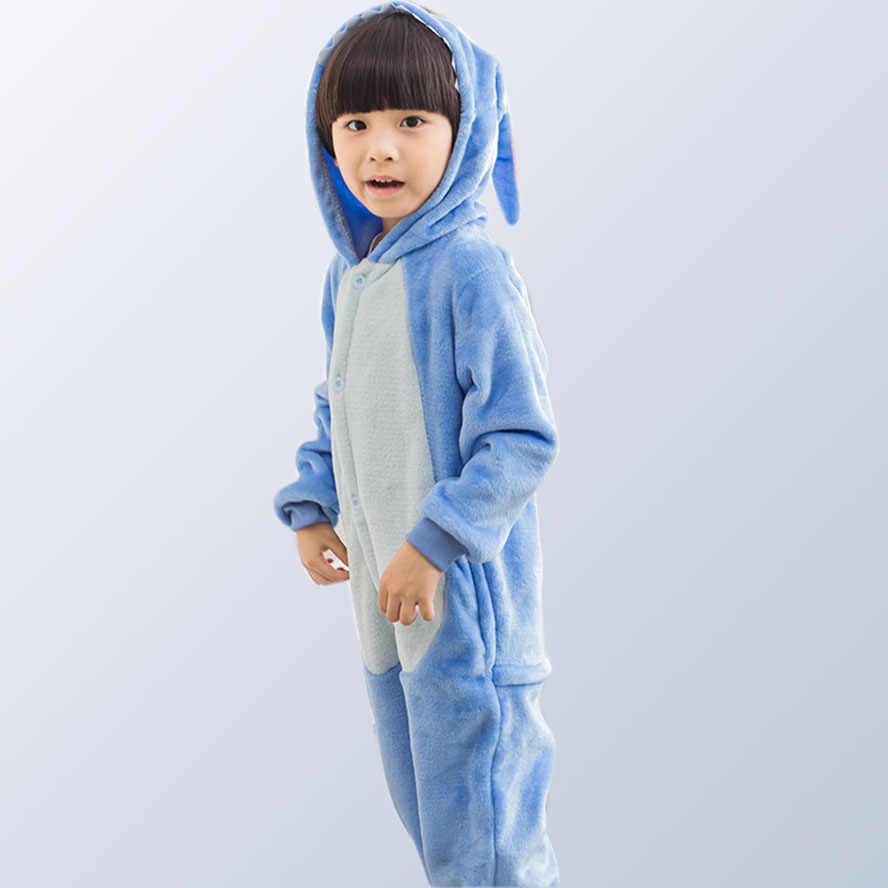 Пижамы с животными для девочек, теплая зимняя детская пижама, Детская Пижама, Детская Пижама с единорогом, Пижама для детей возрастом от 4 до 12 лет