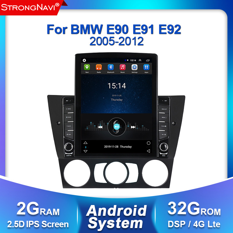 Tesla screen DSP IPS 2Din Android Car Radio DVD Player For BMW E90/E91/E92/E93 3 Series Multimedia GPS Navigation stereo Audio