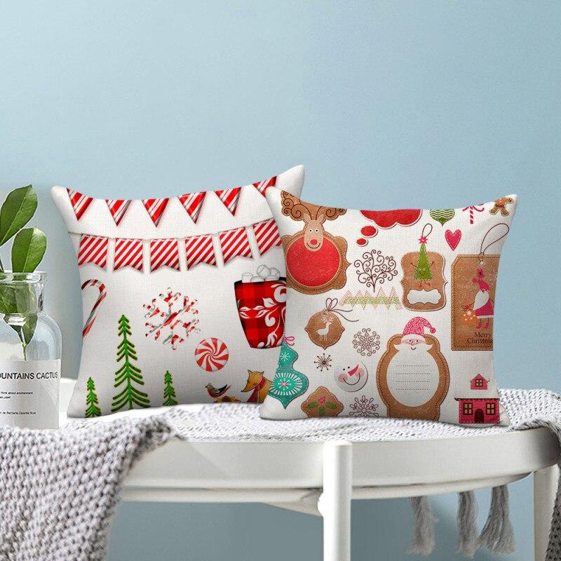 Купить наволочки nanacoba с рисунком рождественской елки и оленя наволочки