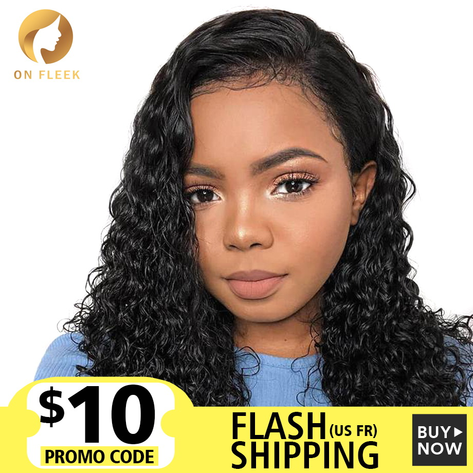 Short Lace Front Human Hair Wigs For Black Women Brazilian Curly Human Hair Wig Deep Water Wave Long Hd Lace Frontal Wig
