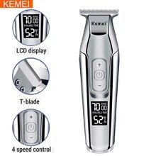 Kemei Professional Hair Clipper Beard Trimmer mens hair trimmer LCD digital display cordless haircut electric razor 5