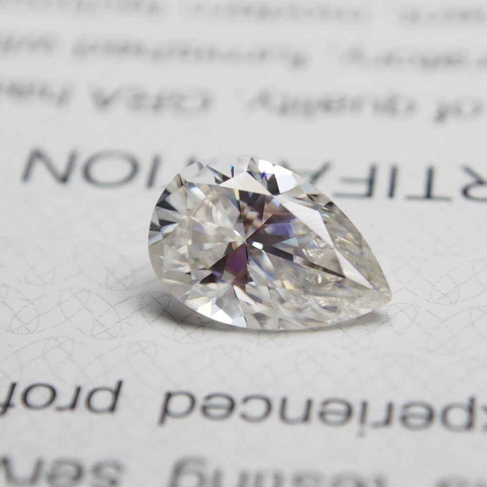 5*7mm pear Cut 0.69 carat VVS Moissanite Super White Diamond