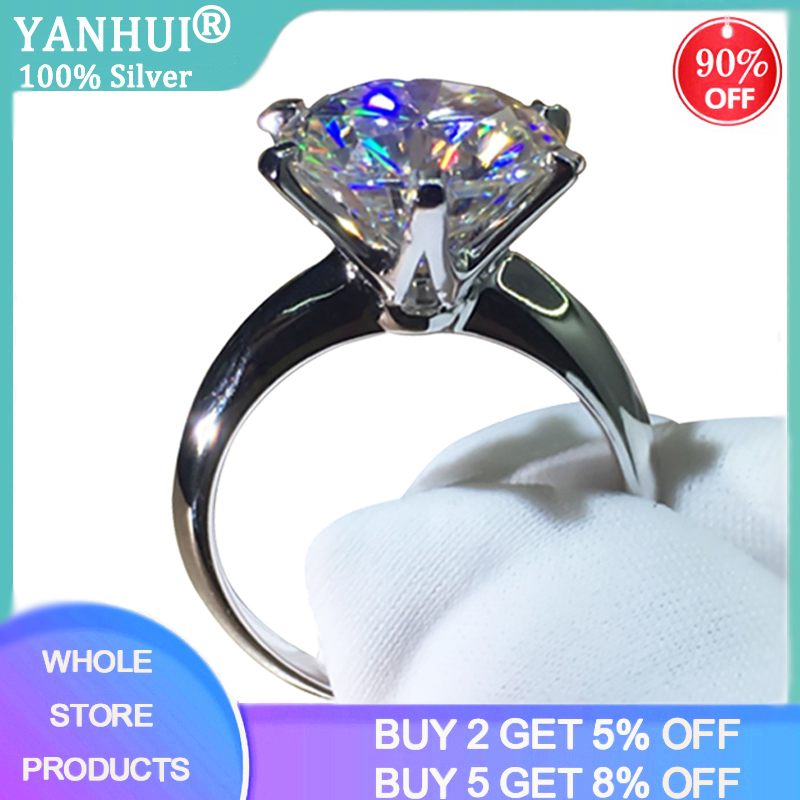 Promotion! With Certificate Lab Moissanite Ring Real 18K White Gold Ring Solitaire 2.0ct Sona Diamond Wedding Rings For Women