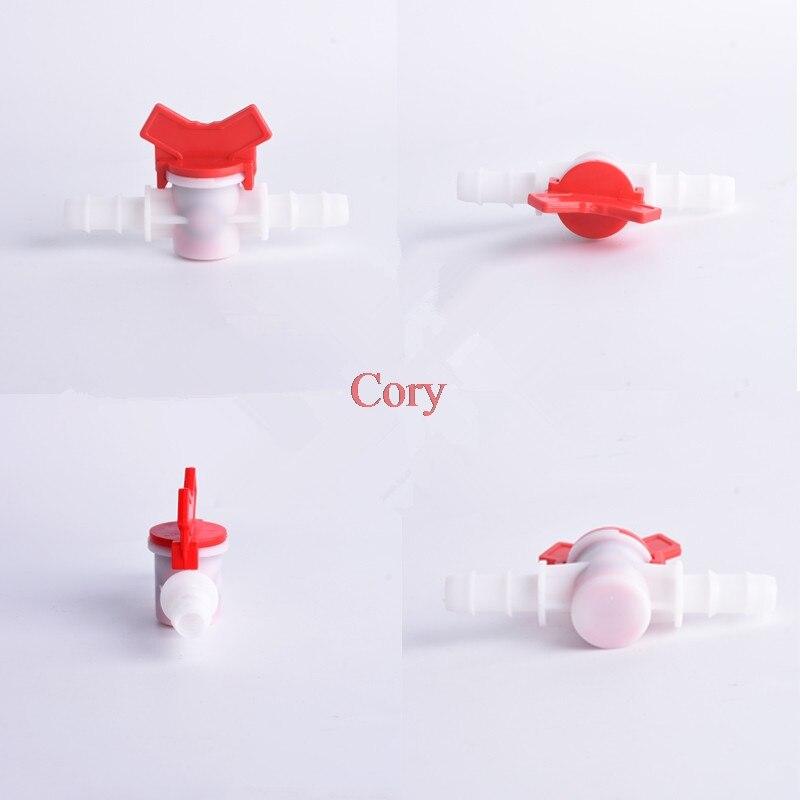 1PC 4mm 6mm 8mm 10mm 12mm 16mm 20mm Flexible Pipe Hose Pagoda Ball Valve 2 Way Plastic Aquarium Irrigation Regulate Valve CZYC