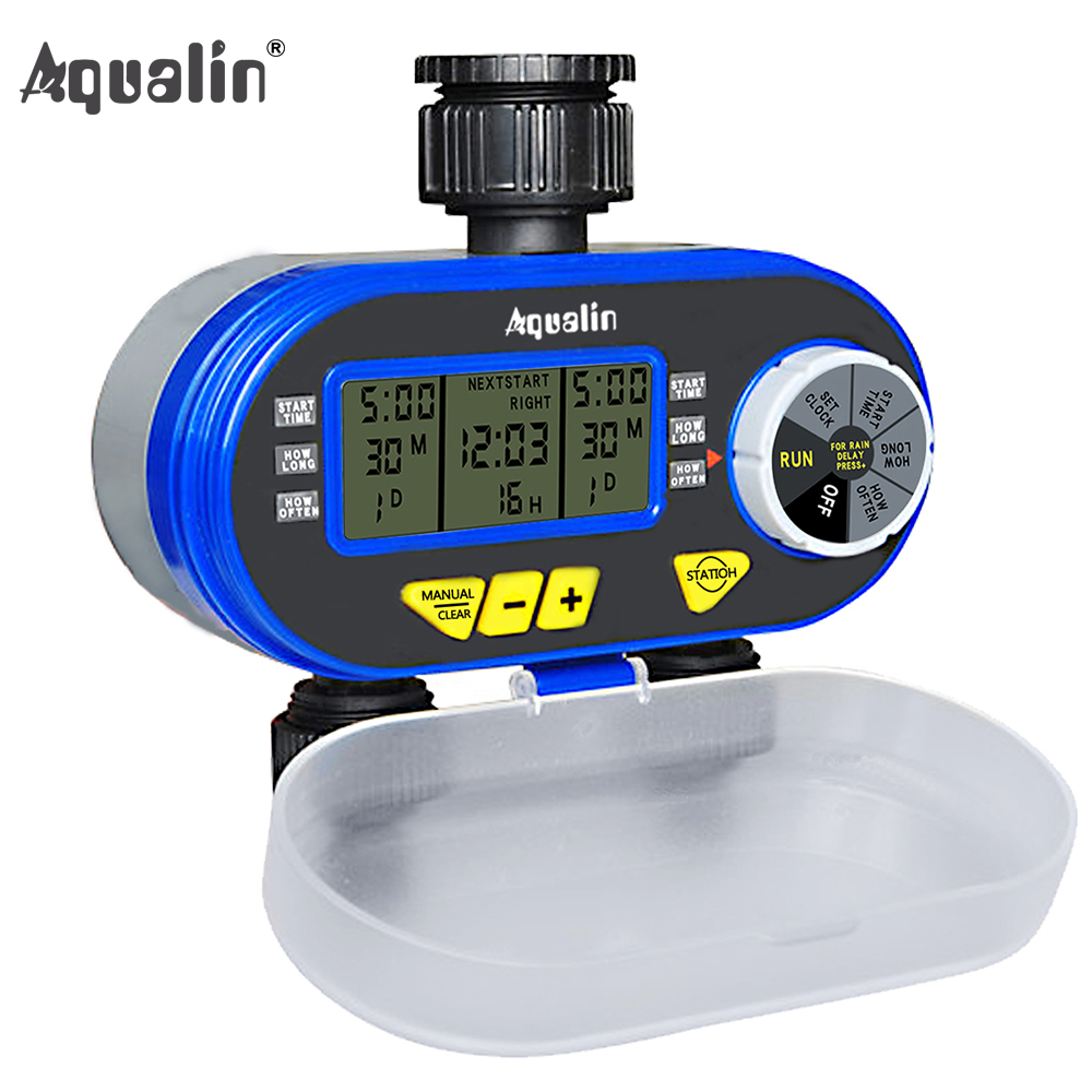 New Arrival Two Outlet Garden Digital Electronic Water Timer Solenoid Valve Garden Irrigation Controller for Garden,Yard#21060 title=