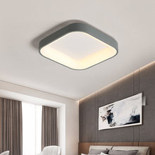 Square Modern LED Ceiling Lights For Living Room With APP Dimmable Bedroom Lamp Fixtures Office Study Decor Gray Plafon Lustre