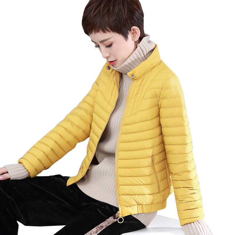 Spring Autumn Korean Ultra Light Down Jacket Women White Duck Down Coat Puffer Jacket Womens Jackets WDDY7683 YY1535