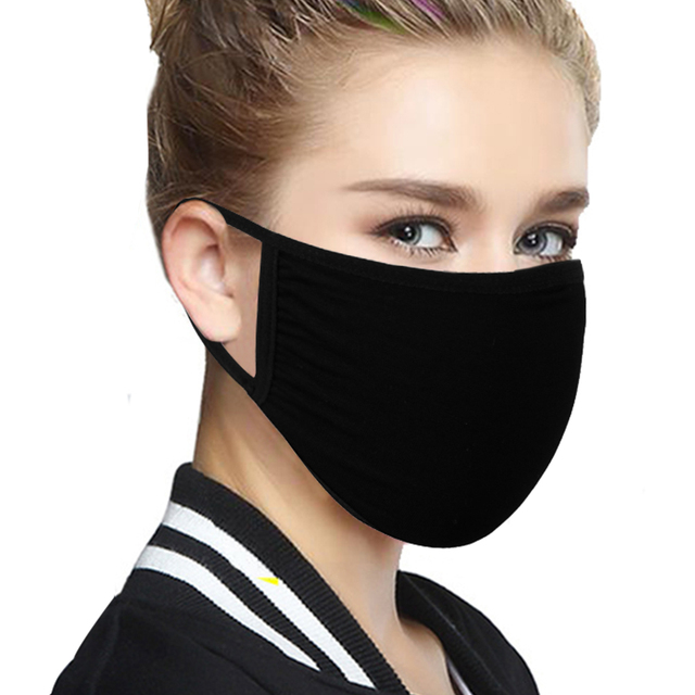 New Cotton Face Mouth Cover Anti Haze Reusable Double Layer Respirator Dustproof Mouth Muffle Masque Pm2.5 Filter Black Red Blue
