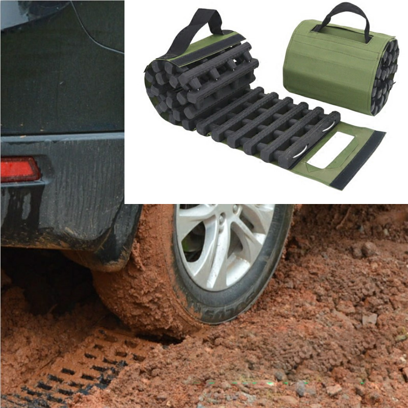 Car grip track traction mat recycling traction mat portable emergency track tire ladder for icy snow sand off-road muddy ground