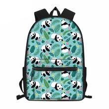 Дети школа сумки для женщин милый панда печать ноутбук рюкзак подростки младший школьный портфель дети школа книжный портфель