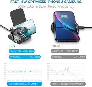 Image 2 - DCAE 15W Qi Drahtlose Ladestation für iPhone 11 Pro X XS 8 XR Samsung S9 S10 S8 USB C Schnelle Ladestation Telefon Schnell Ladung