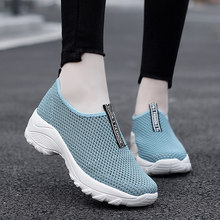 Nova mulher sapatos de caminhada sapatos casuais senhoras tênis esporte ao ar livre malha respirável calçados femininos tamanho 35-42 mujer zapatos