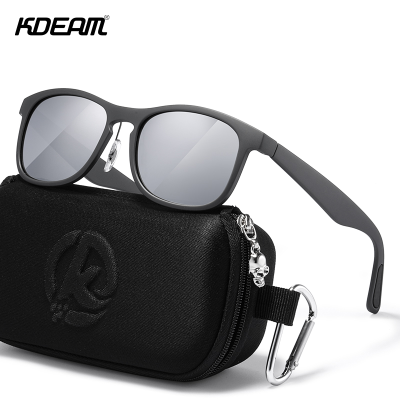KDEAM New Sports Goggles Oversized Men Polarized Sunglasses Ultra Light TR90 Sun Glasses For Driving Climbing Fishing