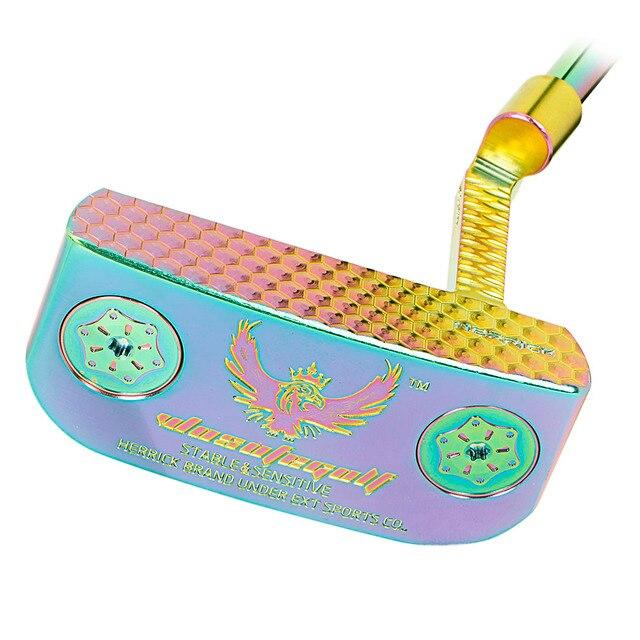 Golfclubs Putter Kleurrijke Putter Met Stalen Materiaal Mens33/34/35 Inch Distributie Headcover Drie Meer Preferentiële