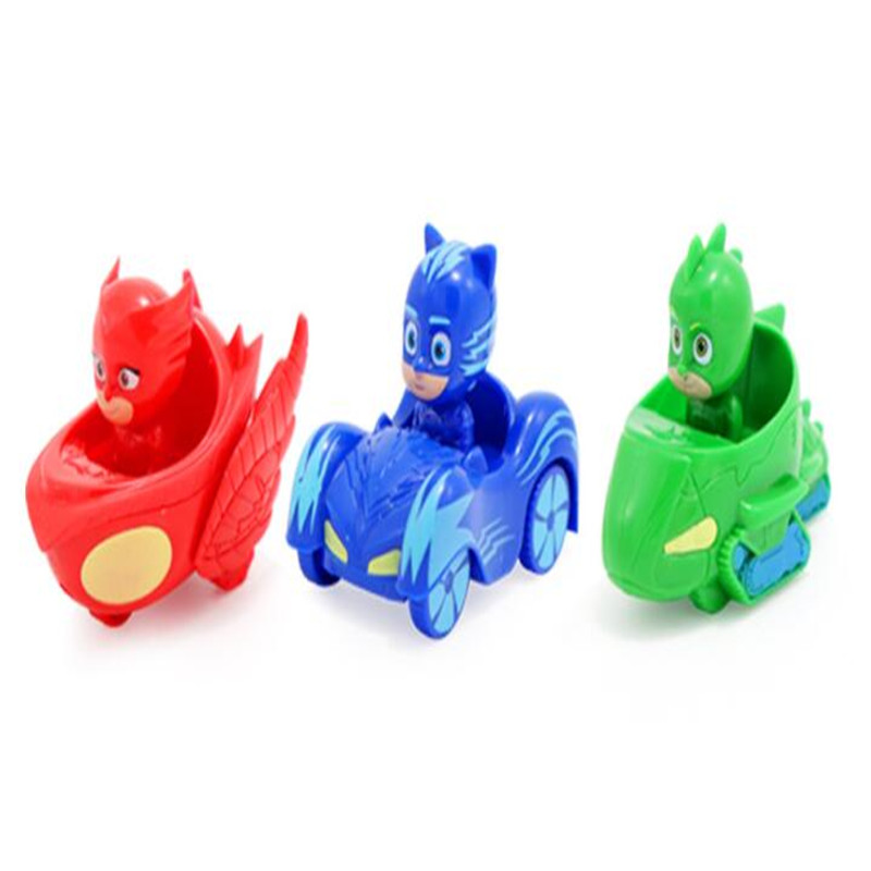 3/6 Pcs Pj Masks Movie & TV Anime Kids Toys Mask Wrist Action Figure Model Children Birthday Christmas Party Gifts