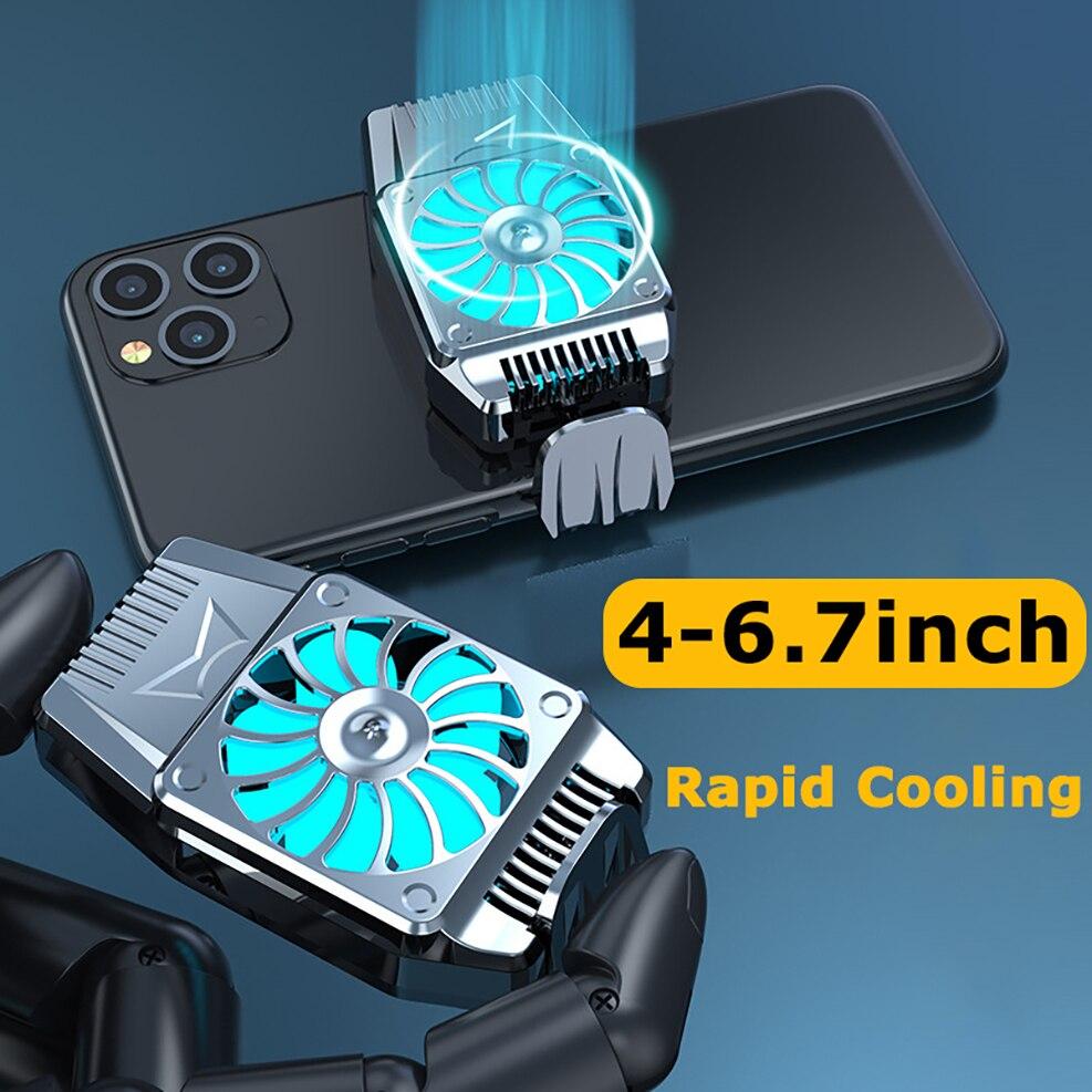 Универсальный мобильный телефон Вентилятор охлаждения Радиатор для iPhone 11Pro Samsung Galaxy S10 XIAOMI HUAWEI OnePlus LG Redmi Note кулер вентилятор портативный USB р...