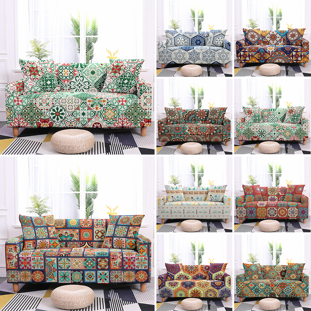 Bohemia Stretch Slipcovers Sectional Elastic Sofa Cover for Living Room Couch Cover L shape Armchair Cover