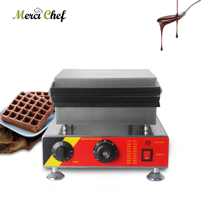 ITOP 1500W Electric Waffle Maker Baker Non-stick Teflon Surface 6 Slicer CE Adjustable Temperature Machine