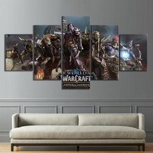 Canvas Prints Painting Wall Art Modular 5 Panel WoW Battle for Azeroth Video Game Posters Living Room Home Decor