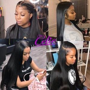 Image 5 - Celie Haar 5X5 Sluiting Met Bundels Remy Human Hair 3 Bundels Met Sluiting Braziliaanse Steil Haar Bundels Met sluiting