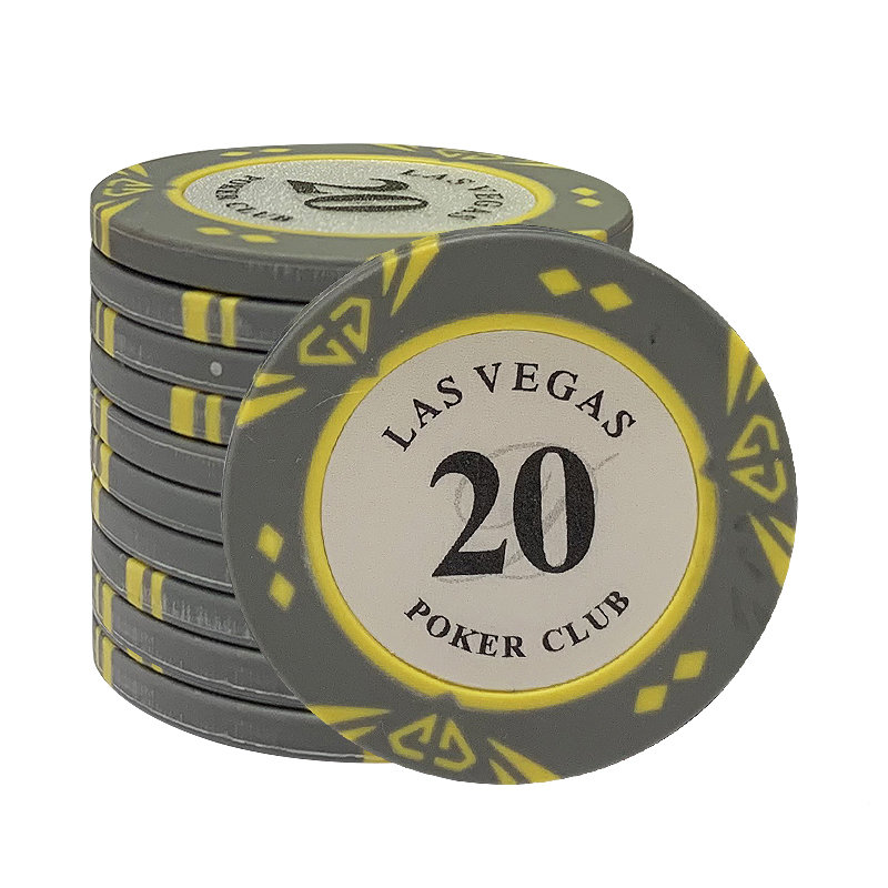 200pcs Las Vegas Clay Poker Chips set Casino Custom Texas Hold'em Pokers Chip Dollar Coins Poker Club <font><b>LasVegas</b></font> image