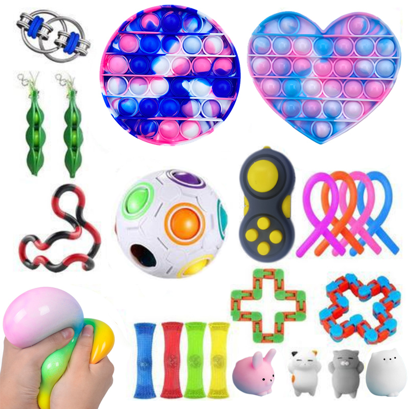 Fidget Toys Set Stress Stress Popit Relief Pack Gift for Adults Kids Sensory Figet Squishy Relief Antistress img3