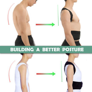 Image 5 - Posture Corrector Brace Support Belt Adjustable Back Clavicle Spine Back Shoulder Lumbar Posture Correction