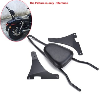 Samger Motorcycle Luggage Rack Sissy Bar Backrest Cushion Pad Black for Harley Sportster XL883C 883R 1200R XLH883 1200 for harley sportster 1200 iron 883 roadster forty eight custom seventy two superlow motorcycle sissy bar passenger pad backrest