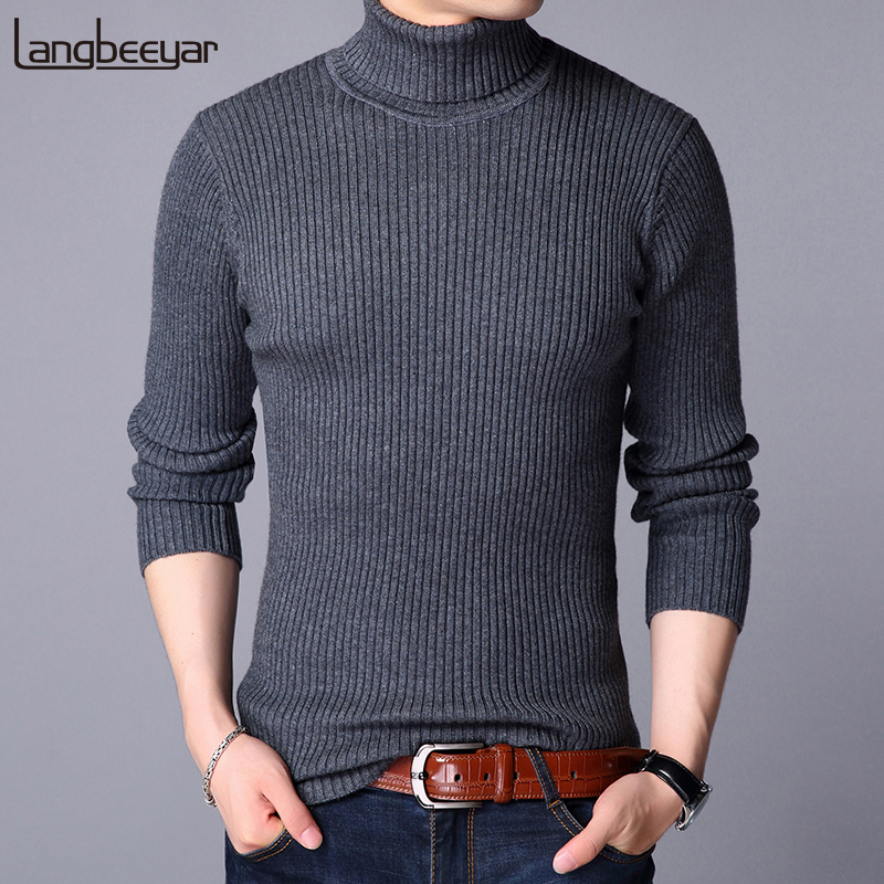 2019 New Fashion Brand Sweater For Mens Pullover Wool Slim Fit Jumpers Knitred Top Grade Winter Korean Style Casual Men Clothes