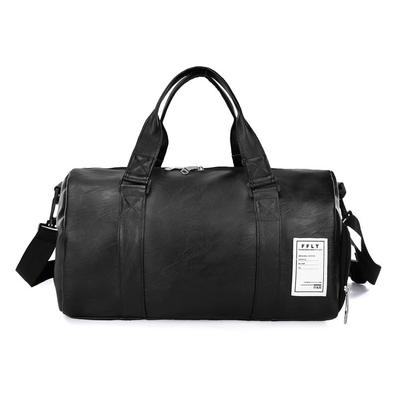 Women Men Fitness Bag Solid PU Waterproof Large Capacity Sport Totes for Travelling YS-BUY
