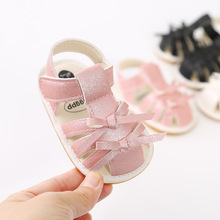 Cute Bowknot Baby Girl Sandals Pu Leather Newborn Toddler Girls Sandals Soft Sole Non-Slip Infant Baby Girl Summer Shoes