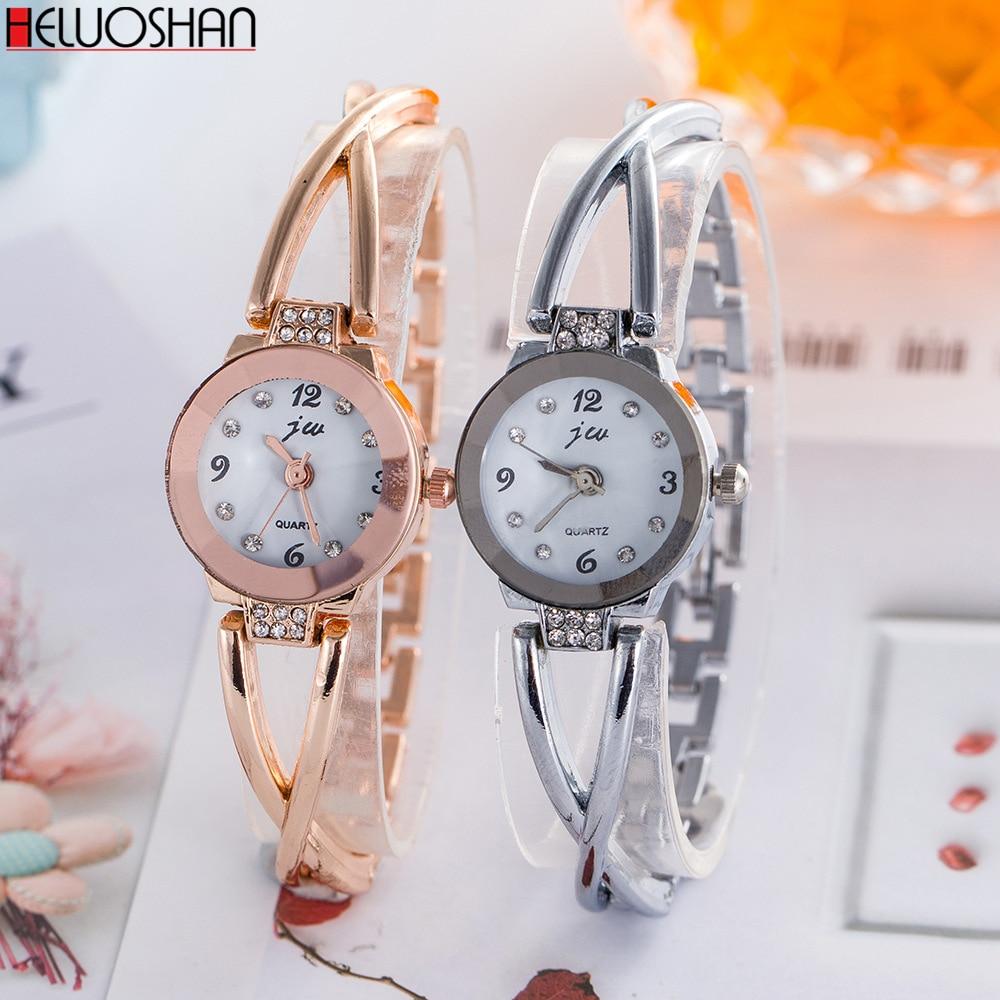 Price Drop Reloj Muje Rose Gold Bracelet Watch Women Luxury Wristwatches Diamond Quartz Watch High Quality 2020 New Montre Femme