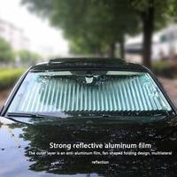 Evrensel ayarlanabilir araba pencere güneşlik katlanır ön cam güneşlik kapak Shield perde otomatik güneşlik bloğu Anti UV güneşlik      -