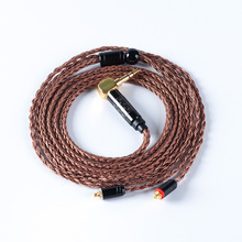 16 Core Import Single Crystal Copper Balanced Cable 2 5 3 5mm With MMCX 2pin Connector For BL-05 BL-03 CA16 C12 TRN V90 cheap honesum Other Wired In-Ear 120dB None 1 2m Monitor Headphone Line Type Silver Plated Cable For Shure 30Ω