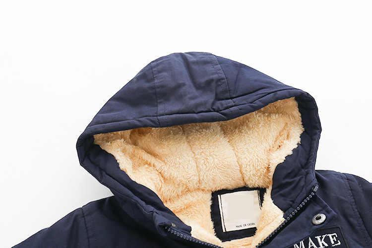 Куртка с капюшоном для маленьких мальчиков и девочек; детская ветровка для мальчиков; утепленная флисовая бархатная верхняя одежда; детская одежда с вышитыми буквами
