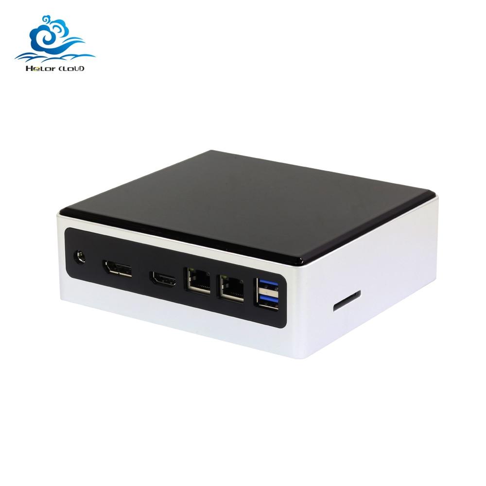 Mini Pc Intel Core I7 7500U I5 7200U Linux Thin Client Micro Desktop Computers Best Industrial Komputer Win 10 Minipc 2 Lan Port