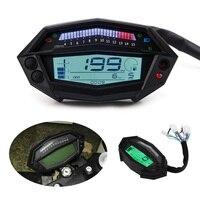 Universal Digital Speedometer Motorcycle Meter White Backlight Gear Indicator Tachometer Hour Meter For Kawasaki Z1000