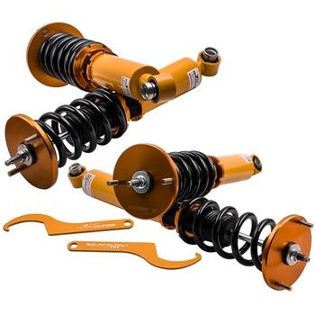 Adjustable Damper Coilover Coilovers For Nissan Skyline GTST R33 ECR33 ER33 24 Way Adj. Suspension Spring Front Rear Camber