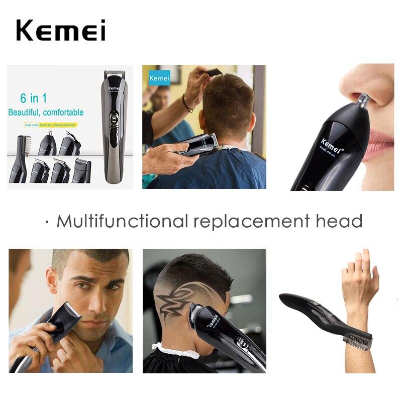 Машинка Kemei 11 в 1 для стрижки волос, многофункциональный профессиональный триммер 5 для волос/бороды