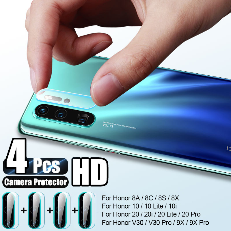 4Pcs Camera Screen Protector For Huawei Honor 8A 10 9 Lite Tempered Glass For Honor 20 10i 8S V30 9X Pro 8X Lens Protective Film