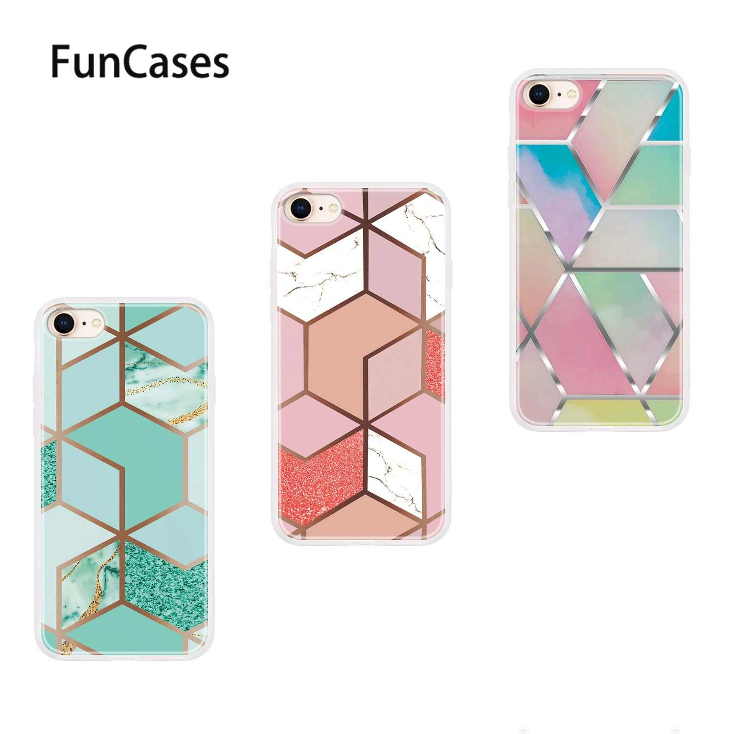 "Glitter Cases For coque iPhone 7 Plus Metallic Feel Soft Silicone Shell sFor Capa Apple iPhone etui 8 Plus 5.5"" 7 Back Cover"