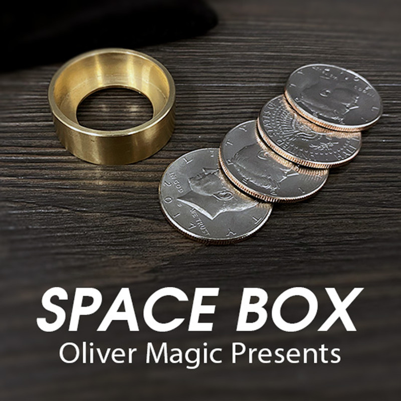 Space Box By Oliver Magic Gimmick Coin Magic Tricks Magician Box Close Up Magic Illusions Prop Money Visual Magic Effect Fun