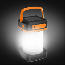 Portable Outdoor Solar Power Hanging Folding Camping Tent LED Light Lamp Lamp Rechargeable Flashlight Torch Camping Hiking 9.6 недорого