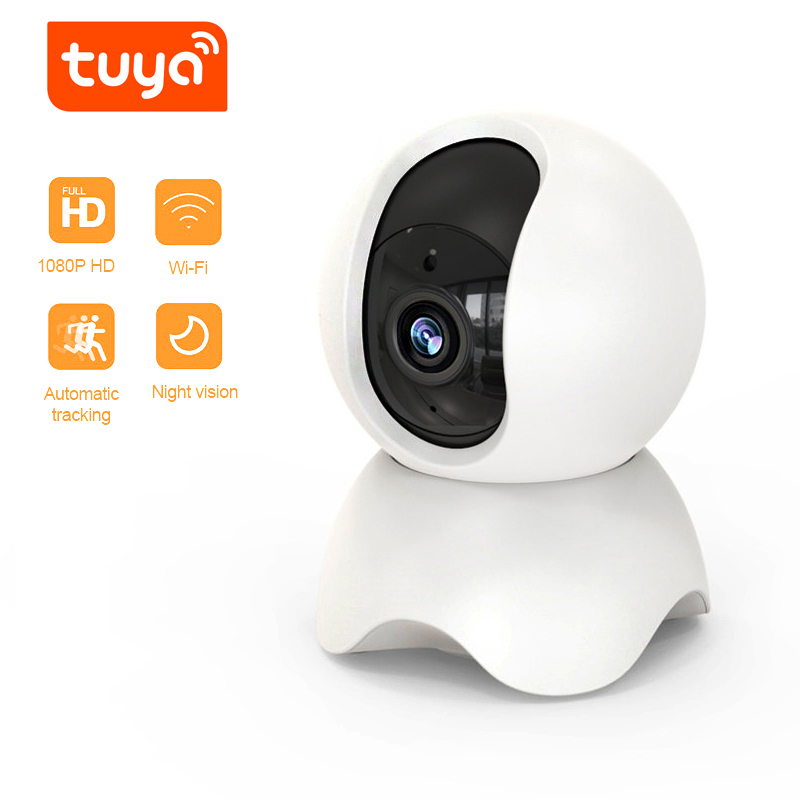 QZT Indoor IP Camera WIFI Tuya Smart Home Security Camera Video Surveillance Infrared Baby Monitor 360° Dome CCTV Camera IP WIFI