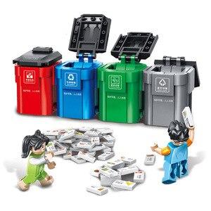 Image 3 - PANLOS 660002 Ideas Series Garbage Classification Sanitation Truck Building Block Bricks Educational DIY Kids Toys For City