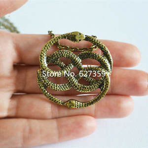 Snake Necklace Jewelry Pendant Amulet Ending Ouroboros Story AURYN Never The